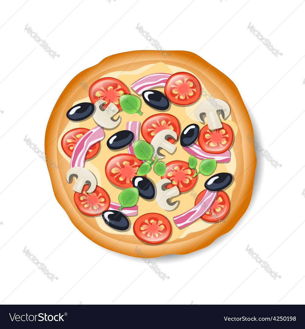 Isolated tasty italian pizza vector | Price: 1 Credit (USD $1)