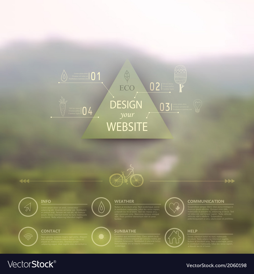 Web and mobile interface template corporate vector   Price: 1 Credit (USD $1)