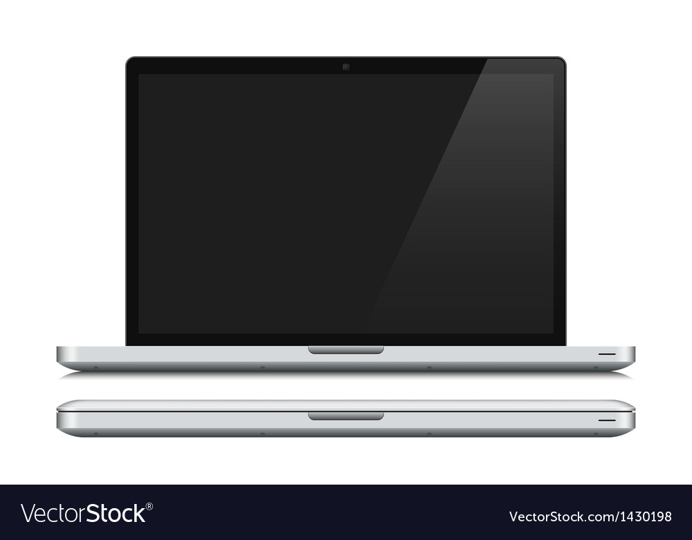 White laptop closed and opened vector | Price: 1 Credit (USD $1)