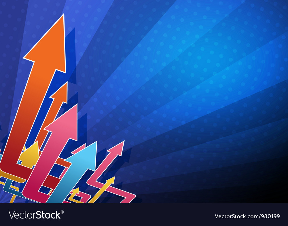 Abstract arrow background design vector | Price: 1 Credit (USD $1)