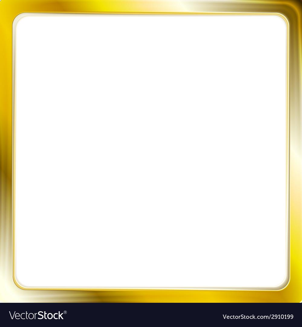 Abstract metallic golden frame vector | Price: 1 Credit (USD $1)