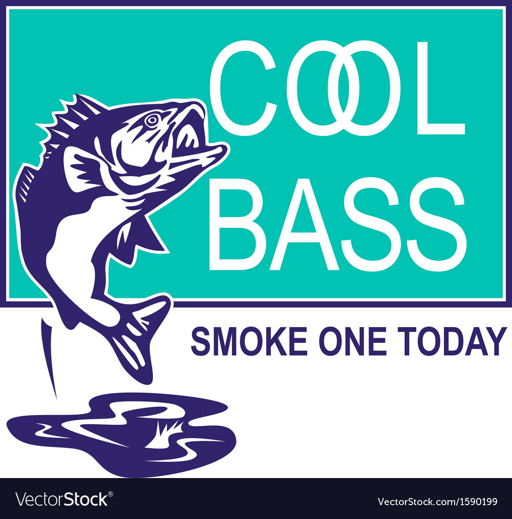 Bass largemouth jumping cool vector | Price: 1 Credit (USD $1)