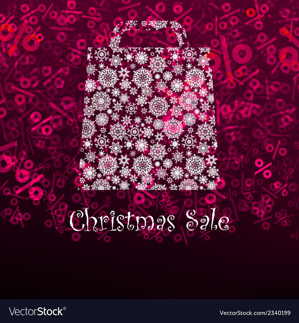 Christmas sae card with shopping bag eps 8 vector | Price: 1 Credit (USD $1)