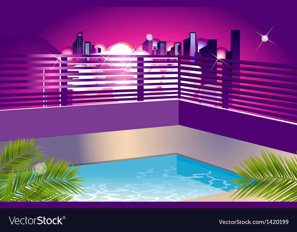 Cityscape outside window vector | Price: 1 Credit (USD $1)