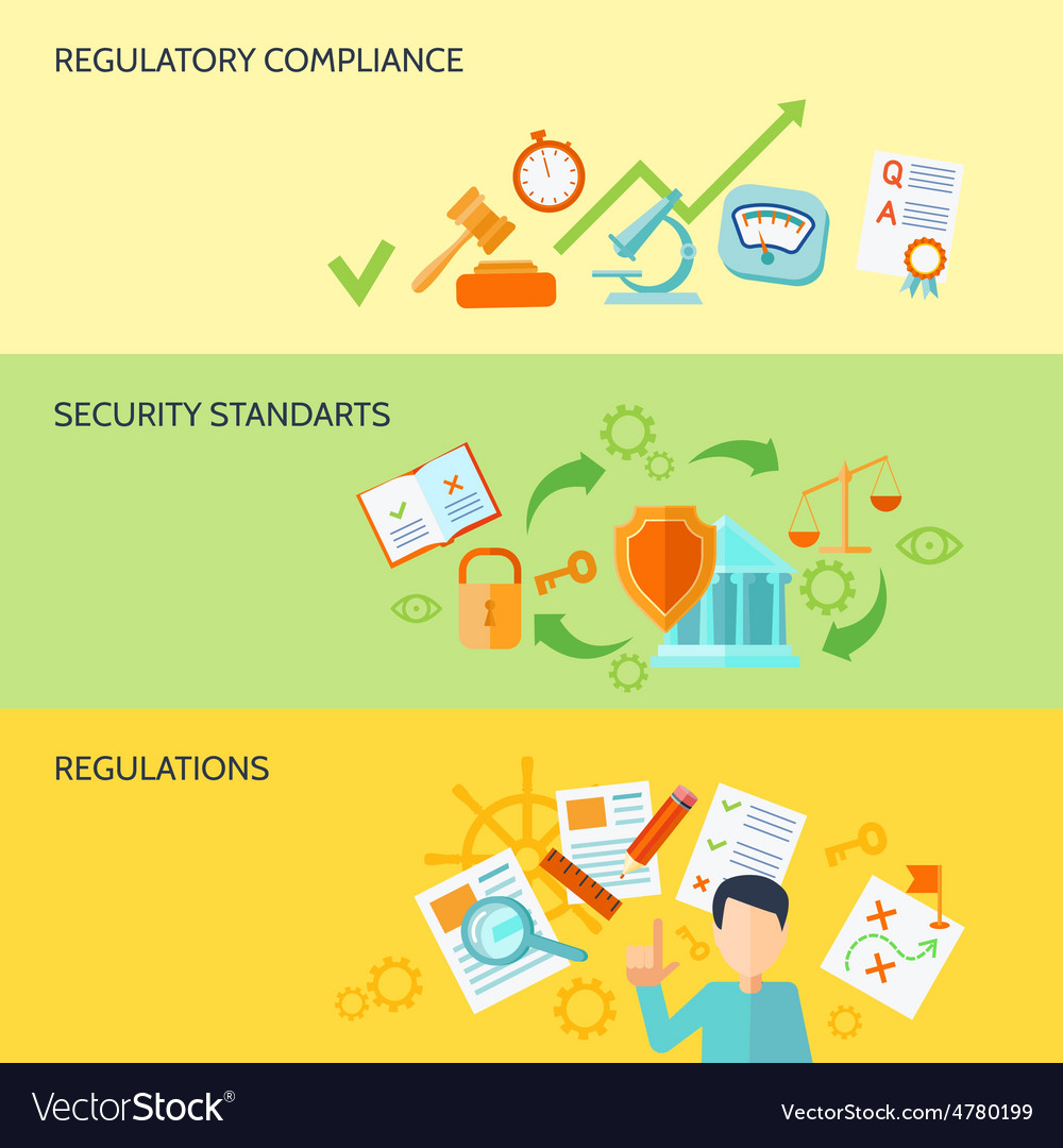Compliance banner set vector   Price: 3 Credit (USD $3)
