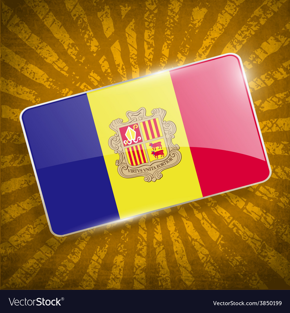 Flag of andorra with old texture vector   Price: 1 Credit (USD $1)