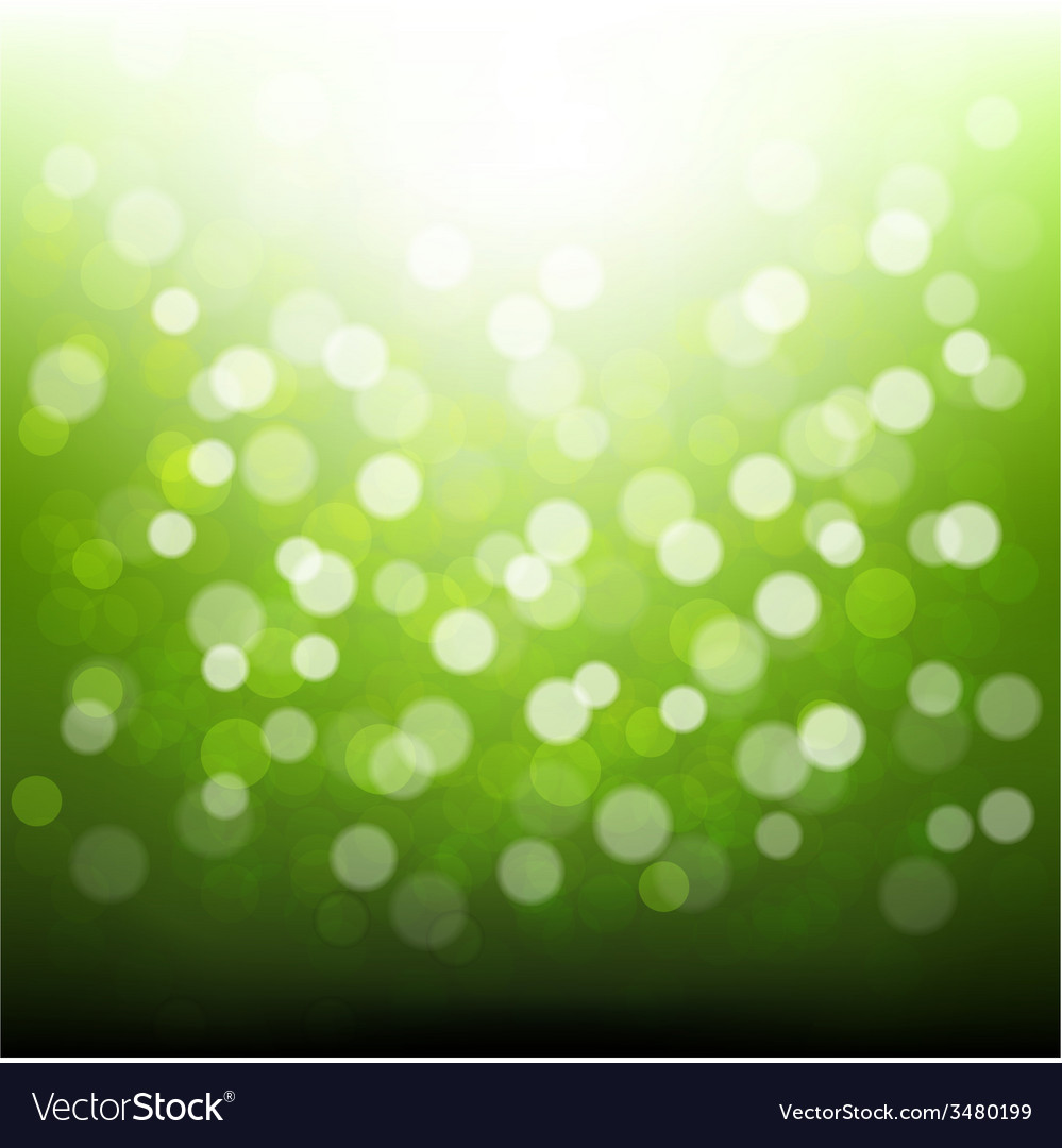 Green bokeh vector | Price: 1 Credit (USD $1)