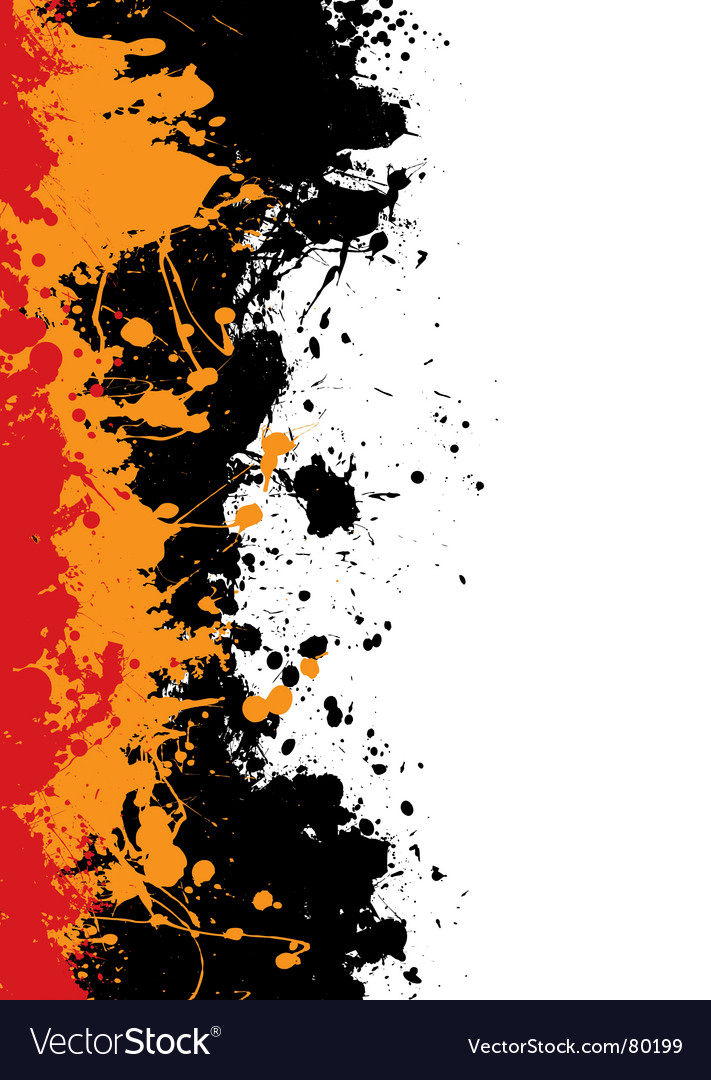 Ink splat border vector | Price: 1 Credit (USD $1)