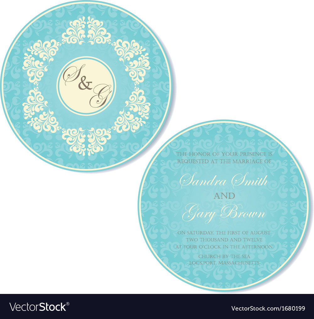 Invitation round vector | Price: 1 Credit (USD $1)