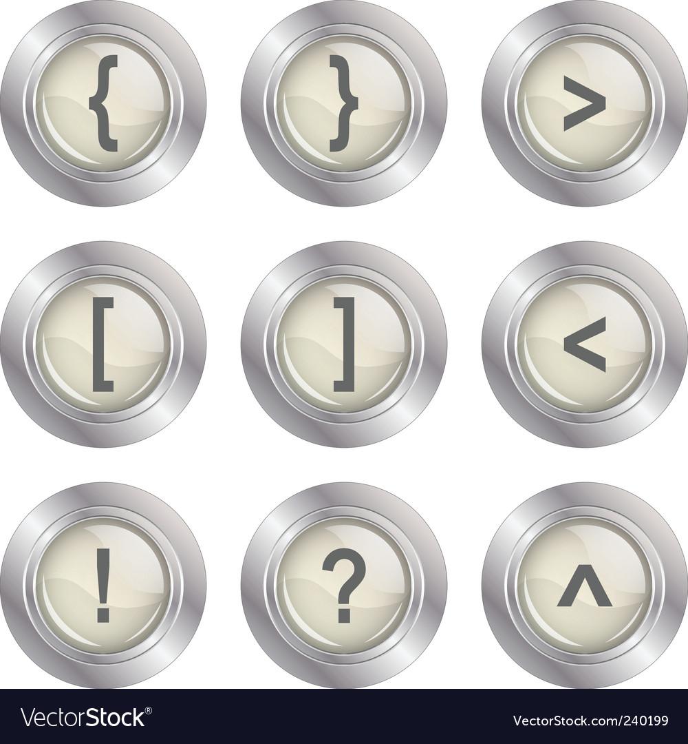 Mathematics buttons vector | Price: 1 Credit (USD $1)