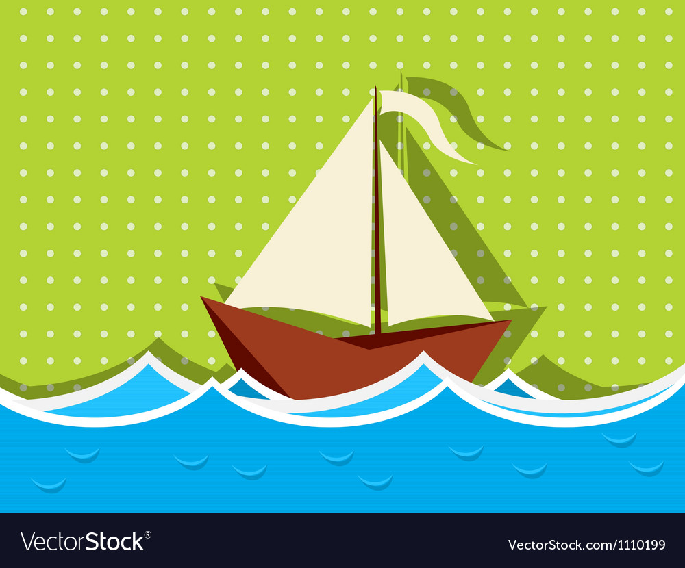 Sailing ship graphic vector | Price: 1 Credit (USD $1)
