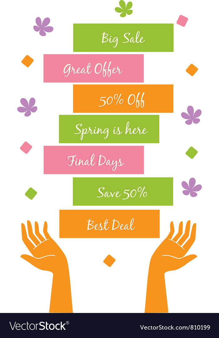 Spring offer vector | Price: 1 Credit (USD $1)