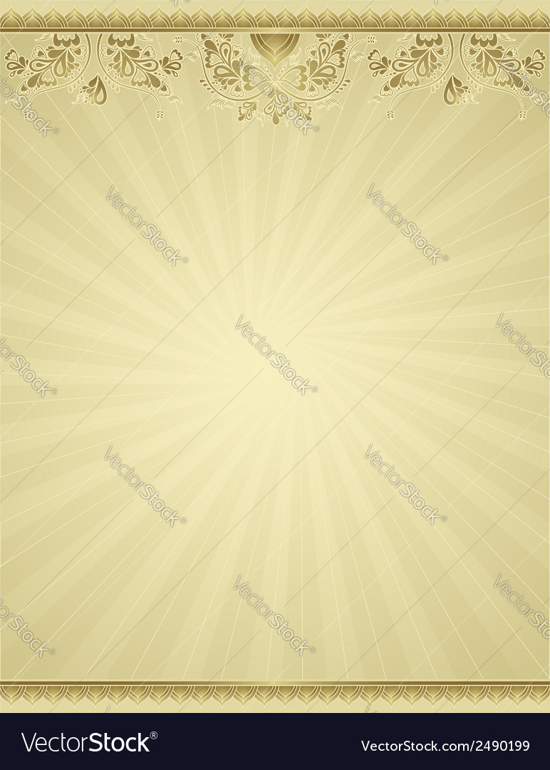 Yellow antique background vector | Price: 1 Credit (USD $1)