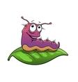 Cartoon slug or caterpillar character vector