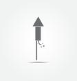 Fireworks rocket icon vector