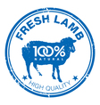 Lamb stamp vector