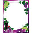 Wine frame vector