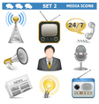 Media icons set 2 vector