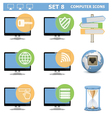 Computer icons set 8 vector