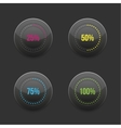 Set of round progress bar element with vector