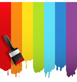 Brush with rainbow paint vector