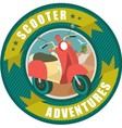 Scooter emblem vector
