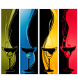 Four cocktail banners vector