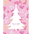 Pink abstract triangles christmas tree silhouette vector