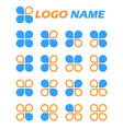 Clover flat icons vector