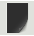 Black paper sheet vector