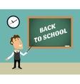 Back to school scene vector