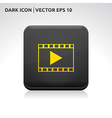 Play video format icon gold vector