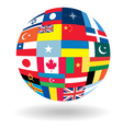 Flag ball vector