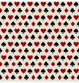 Seamless pattern with playing card suits vector