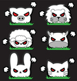 Angry little animal set vector