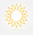 Orange minimal sun icon vector