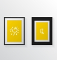 Two poster mock-ups vector