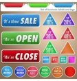 Set of business labels and tags vector