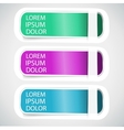 Multicolored tab banner elements vector