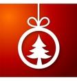 Christmas applique background vector