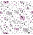 Accessories hand drawn seamless pattern vector