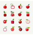 Apple logo templates set elements for design vector
