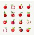 Apple logo templates set elements for design vector