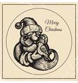 Santa vintage black 2015 vector