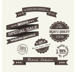 Dark gray retro elements vector