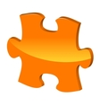 Orange puzzle 3d pie icon vector
