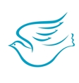 Flying dove or bird of peace vector