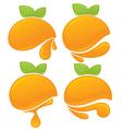 Orange stickers vector