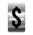 Alphabet silver flipboard letters dollar vector