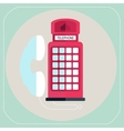 Red telephone box icon vector